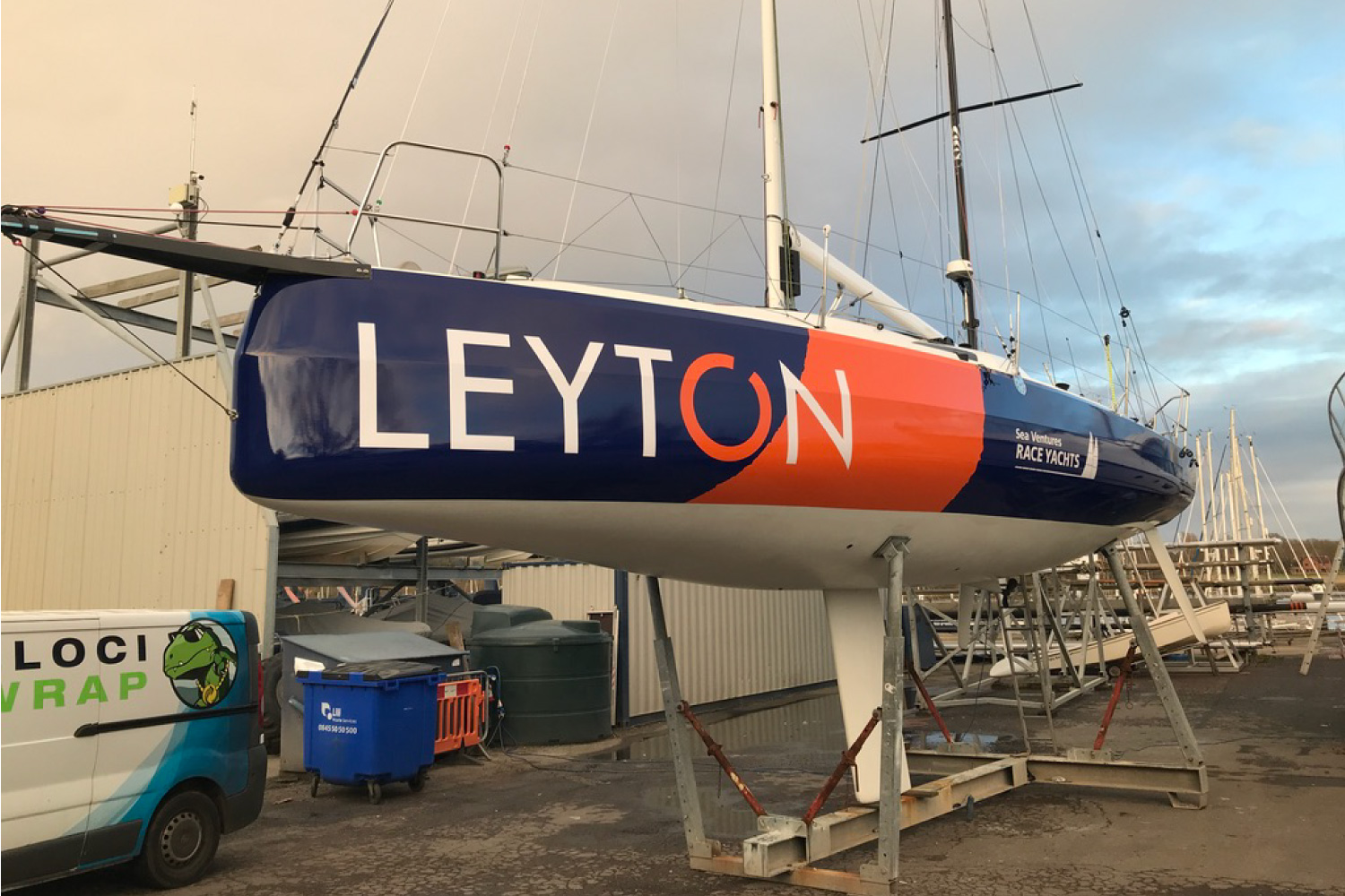 LEYTON Sponsored Sunfast 3300 Sailing Boat With A Full Vinyl Yacht Hull Wrap